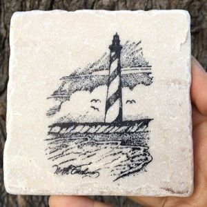 🦋New Listing🦋Stoneware Lighthouse Coasters
